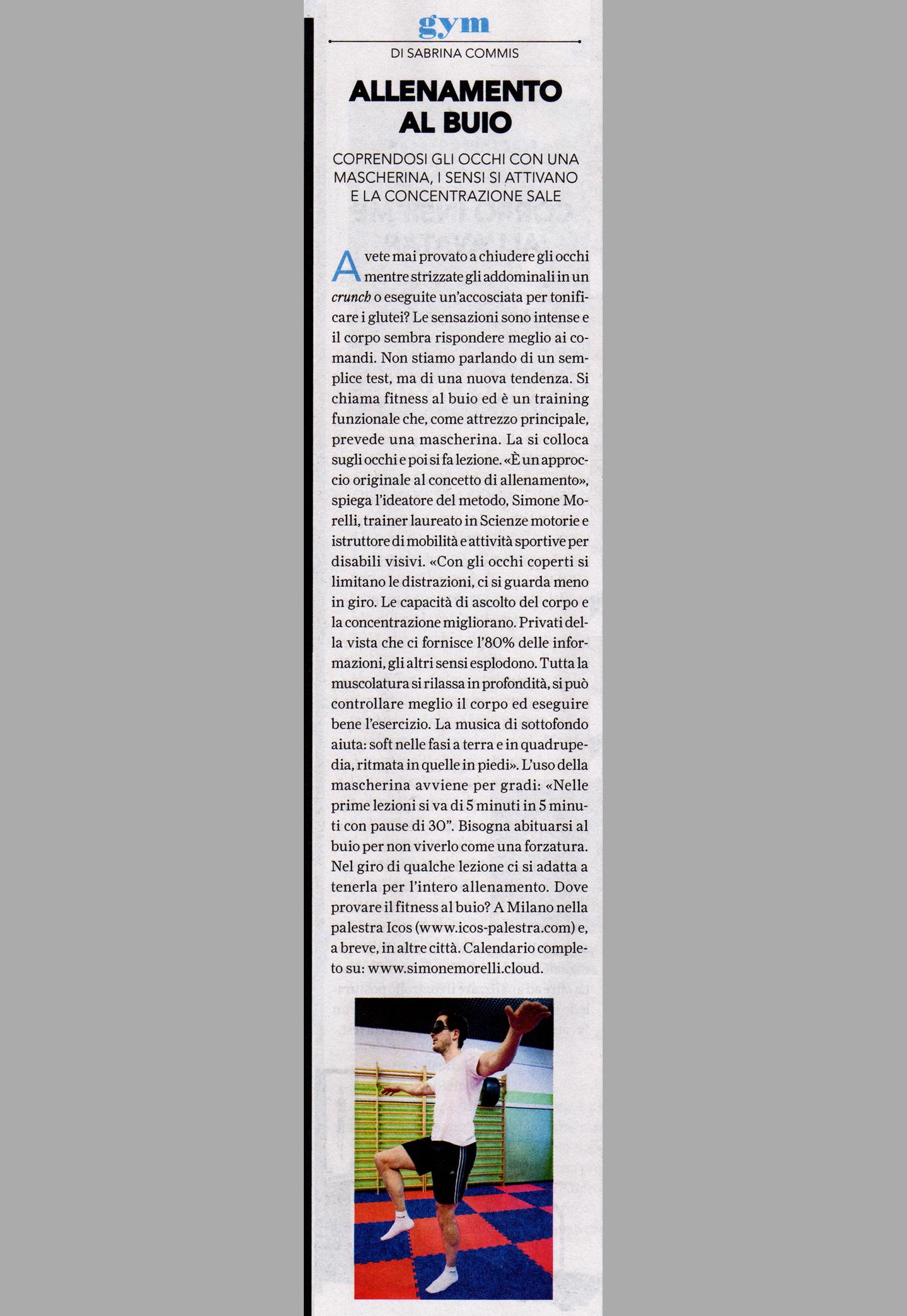 SportWeek - 8-4-2017 - Allenamento al buio