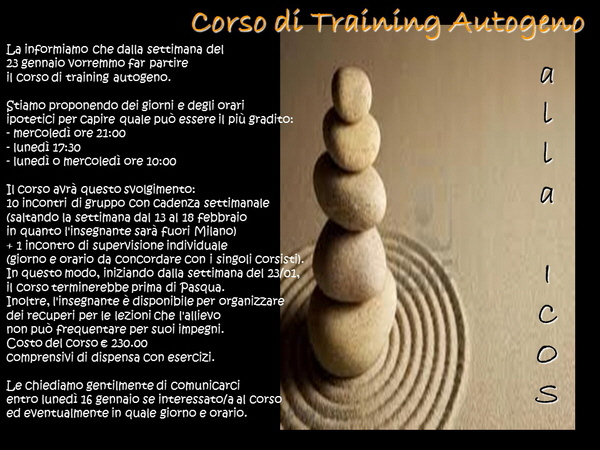 Training autogeno alla ICOS
