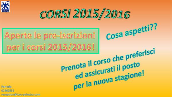 prenotazione corsi ICOS 2015-16